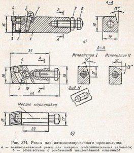 резцы для автоматизированного производства